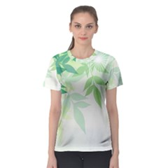 Spring Leaves Nature Light Women s Sport Mesh Tee by Simbadda