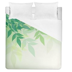 Spring Leaves Nature Light Duvet Cover (queen Size) by Simbadda