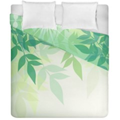 Spring Leaves Nature Light Duvet Cover Double Side (california King Size) by Simbadda