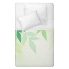 Spring Leaves Nature Light Duvet Cover (single Size) by Simbadda