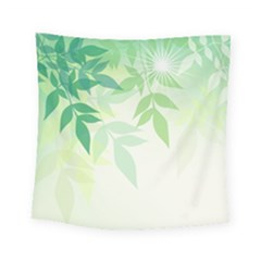 Spring Leaves Nature Light Square Tapestry (small) by Simbadda
