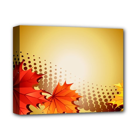 Background Leaves Dry Leaf Nature Deluxe Canvas 14  X 11  by Simbadda