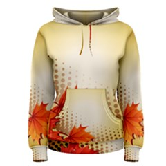 Background Leaves Dry Leaf Nature Women s Pullover Hoodie