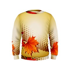 Background Leaves Dry Leaf Nature Kids  Sweatshirt