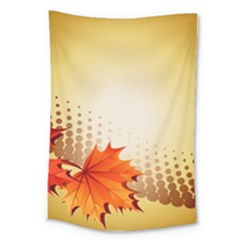 Background Leaves Dry Leaf Nature Large Tapestry by Simbadda