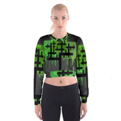 Binary Binary Code Binary System Women s Cropped Sweatshirt by Simbadda