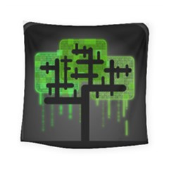 Binary Binary Code Binary System Square Tapestry (small) by Simbadda