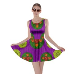 Buddha Blessings Fantasy Skater Dress by pepitasart