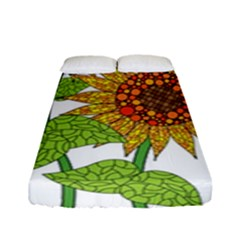 Sunflowers Flower Bloom Nature Fitted Sheet (full/ Double Size) by Simbadda