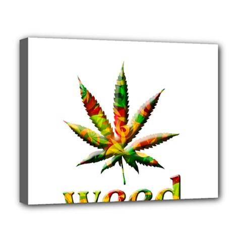 Marijuana Leaf Bright Graphic Deluxe Canvas 20  X 16   by Simbadda