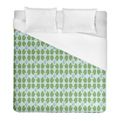 Leaf Flower Floral Green Duvet Cover (full/ Double Size) by Alisyart