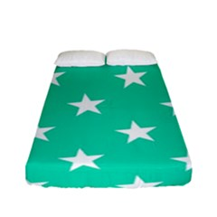 Star Pattern Paper Green Fitted Sheet (full/ Double Size) by Alisyart
