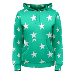 Star Pattern Paper Green Women s Pullover Hoodie