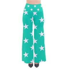 Star Pattern Paper Green Pants
