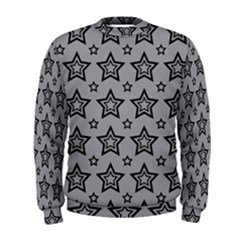Star Grey Black Line Space Men s Sweatshirt