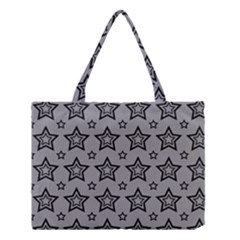 Star Grey Black Line Space Medium Tote Bag by Alisyart