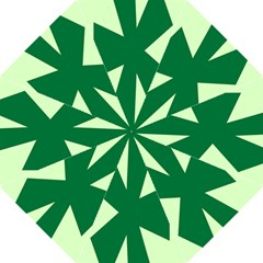 Starburst Shapes Large Circle Green Folding Umbrellas