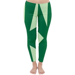 Starburst Shapes Large Circle Green Classic Winter Leggings