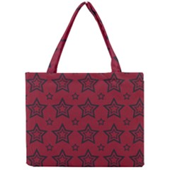 Star Red Black Line Space Mini Tote Bag by Alisyart
