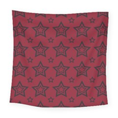 Star Red Black Line Space Square Tapestry (large) by Alisyart