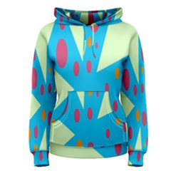 Starburst Shapes Large Circle Green Blue Red Orange Circle Women s Pullover Hoodie