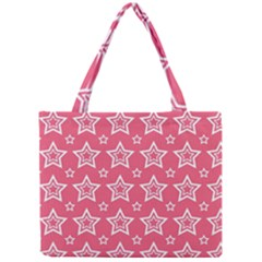 Star Pink White Line Space Mini Tote Bag by Alisyart