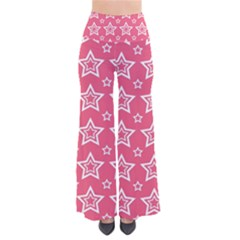 Star Pink White Line Space Pants by Alisyart