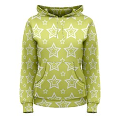 Star Yellow White Line Space Women s Pullover Hoodie