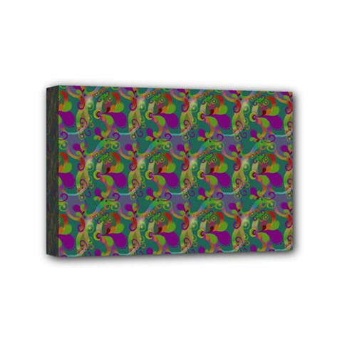 Pattern Abstract Paisley Swirls Mini Canvas 6  X 4  by Simbadda