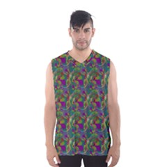 Pattern Abstract Paisley Swirls Men s Basketball Tank Top by Simbadda