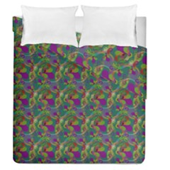 Pattern Abstract Paisley Swirls Duvet Cover Double Side (queen Size) by Simbadda