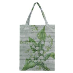 On Wood May Lily Of The Valley Classic Tote Bag by Simbadda