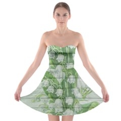 On Wood May Lily Of The Valley Strapless Bra Top Dress