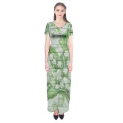 On Wood May Lily Of The Valley Short Sleeve Maxi Dress