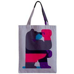 Strong Bear Animals Boxing Red Purple Grey Zipper Classic Tote Bag by Alisyart
