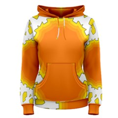 Sun Hot Orange Yrllow Light Women s Pullover Hoodie