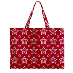 Star Red White Line Space Zipper Mini Tote Bag by Alisyart