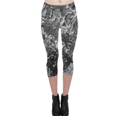 Fern Raindrops Spiderweb Cobweb Capri Leggings  by Simbadda