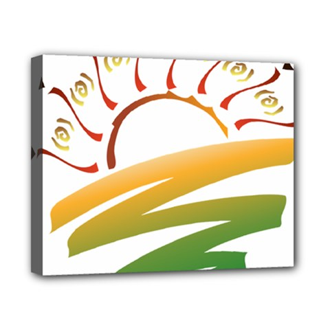 Sunset Spring Graphic Red Gold Orange Green Canvas 10  X 8  by Alisyart