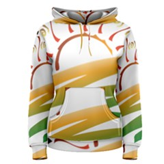 Sunset Spring Graphic Red Gold Orange Green Women s Pullover Hoodie