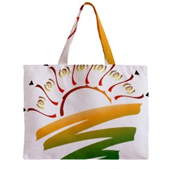 Sunset Spring Graphic Red Gold Orange Green Zipper Mini Tote Bag by Alisyart