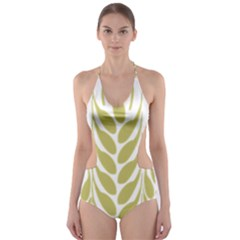 Tree Wheat Cut Out One Piece Swimsuit