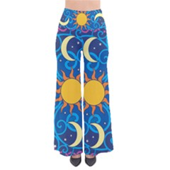 Sun Moon Star Space Purple Pink Blue Yellow Wave Pants by Alisyart