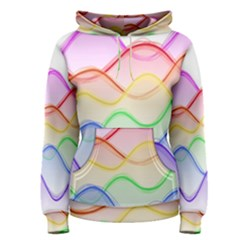 Twizzling Brain Waves Neon Wave Rainbow Color Pink Red Yellow Green Purple Blue Women s Pullover Hoodie