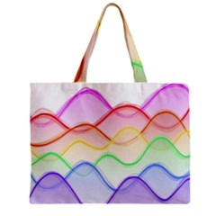 Twizzling Brain Waves Neon Wave Rainbow Color Pink Red Yellow Green Purple Blue Zipper Mini Tote Bag by Alisyart