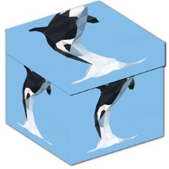 Whale Animals Sea Beach Blue Jump Illustrations Storage Stool 12
