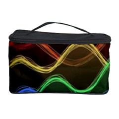 Twizzling Brain Waves Neon Wave Rainbow Color Pink Red Yellow Green Purple Blue Black Cosmetic Storage Case