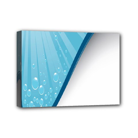 Water Bubble Waves Blue Wave Mini Canvas 7  X 5  by Alisyart