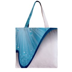 Water Bubble Waves Blue Wave Grocery Tote Bag by Alisyart