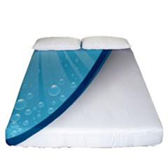 Water Bubble Waves Blue Wave Fitted Sheet (queen Size)